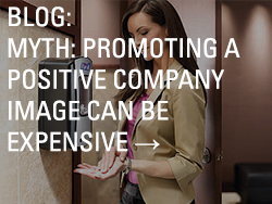 Blog myth promoting positive company image thubmnail