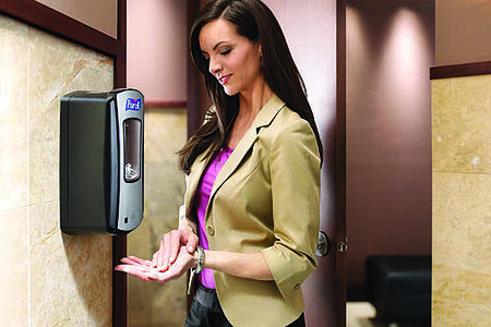 Promoting a positive company image with Purell Hand Sanitizer