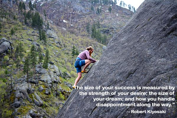 The size of your success is measured by the strength of your desire.