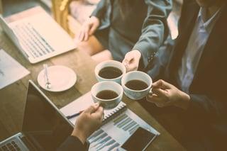 Coffee can improve morale