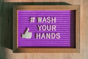 MIllers blog wash hands sign