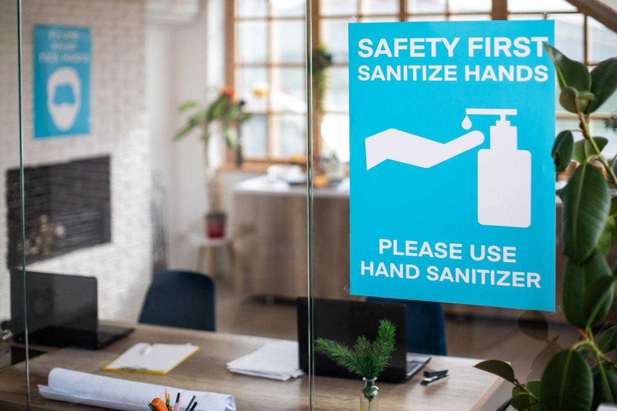 Millers blog sanitizer sign