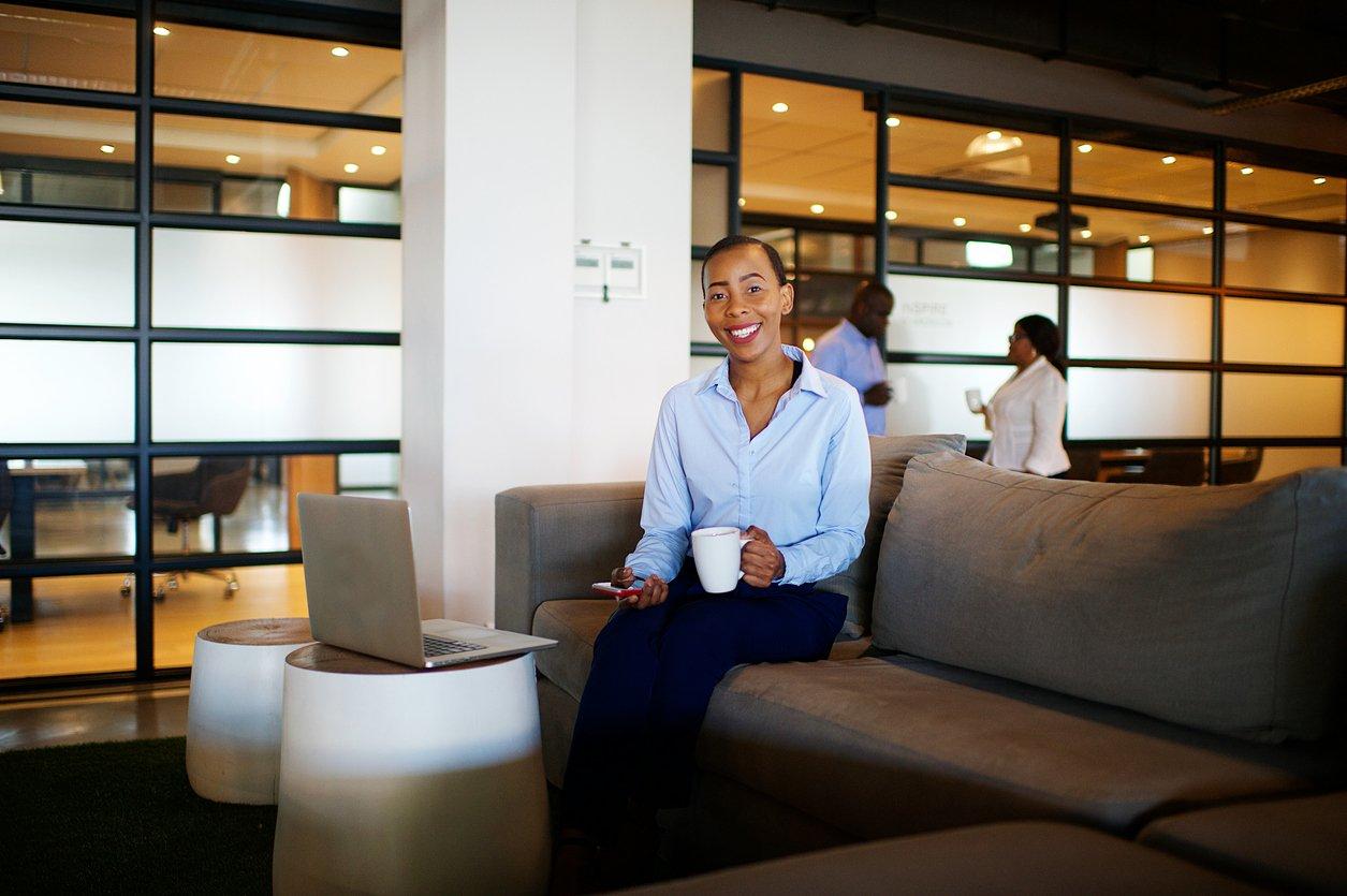 Millers blog woman on sofa w coffee