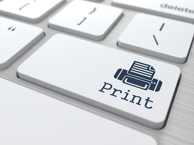 Print only what you need. Printing etiquette rules at work.