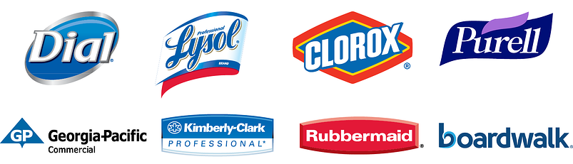 Dial Lysol Clorox Purell Georgia Pacific Kimberly-Clark Rubbermaid Boardwalk