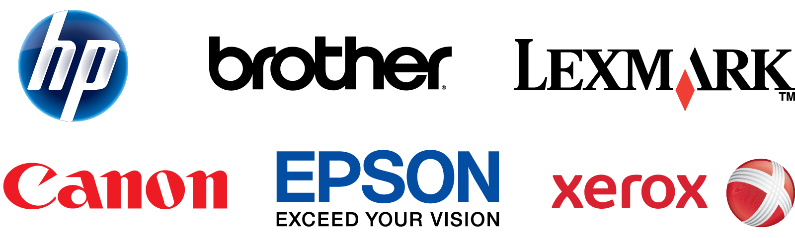 HP Brother Lexmark Canon Epson Xerox
